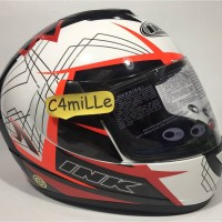 HELM INK CL MAX MOTIF #3 WHITE F RED RED FLUO FULL FACE