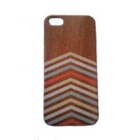Jual Full Wood Doubel Case Iphone 6/6S Rosewood Large Chevron  Murah