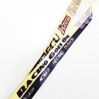Gantungan Kunci JDM Lanyard Racing Strap JS Racing Goes On black gold