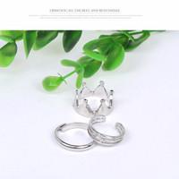 New!! New!! Cincin Mahkota Korean Midi Ring Crown Shape Arisu Online S