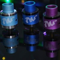 Twisted Messes Colored AFC Ring + Matching Driptip for TM24 RDA
