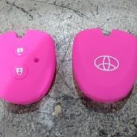 Jual Casing Silikon Remote Kunci Toyota Calya Avanza Pink Murah