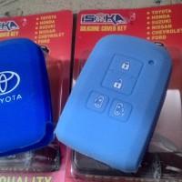 Jual Isoka - Casing Karet Silikon Pelindung Remote Kunci Toyota Sienta Murah