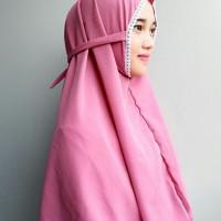 Aina Hijab Bergo Al Azhar Instan Renda bahan Wolfis