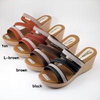Harga premium lolinda atm529 sandal wanita sol karet sandal wedges | Pembandingharga.com