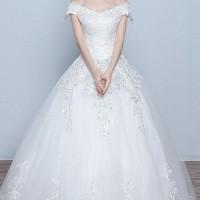 Jual 1708037 Putih Sabrina  Gaun Pengantin Wedding Gown Dress Murah