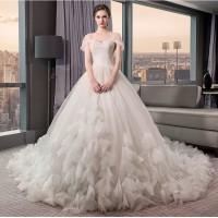 Jual 1708031 Putih Sabrina Ekor Gaun Pengantin Wedding Gown Dress Murah
