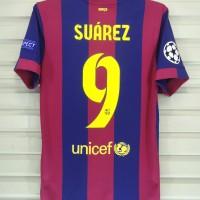 Barcelona 2014-15 Home. BNWT. Suarez. Champion League. Original jersey