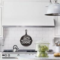 Stiker Kitchen Lets Cook Dapur Set Kulkas Rumah Kaca Dinding Sticker
