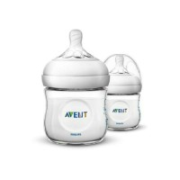 Botol susu 2x125 ml philips avent natural bottle 2 x 125ml wide neck