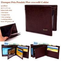Dompet Online Pria / Cowok Plot Crocodil dark coklat