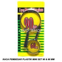 Jual Kaca Pembesar Plastik Mini Set 90 & 60 mm Limited Murah