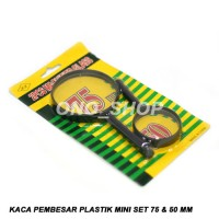 Jual Kaca Pembesar Plastik Mini Set 75 & 50 mm Berkualitas Murah