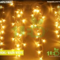 Jual LAMPU TIRAI LED WARM WHITE KUNING TWINKLE LIGHT HIAS DINDING DEKORASI Murah