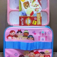 Jual Yooyee Lunch set Girl, Grid Peach sekat 4 (BEST SELLER!!!) Murah
