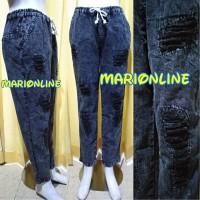 Jual celana ripped sobek lapis boyfriend baggy jeans black acid color Murah