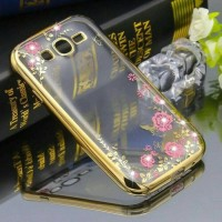 Jual Samsung Galaxy Grand Duos Diamond Flower Butterfly TPU Rubber Softcase Murah