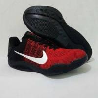 Jual sepatu casual running basket nike kobe 11 hitam merah import man cowok Murah