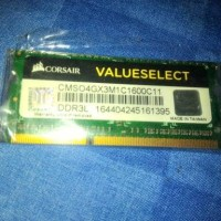 Jual DDR3L CORSAIR 4GB VALUESELECT DDR3 L RAM LAPTOP SODIMM SEUMUR HIDUP Murah