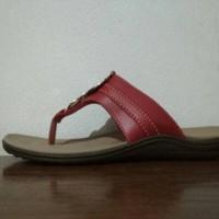 Jual Sandal Wanita Rindi Eksklusif WS 112 Warna Merah Hati Murah