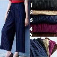 Jual celana kulot plisket babat panjang/celana kulot murah/kulot babat Murah
