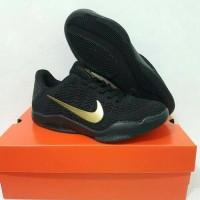 Jual sepatu casual running basket nike kobe 11 hitam gold import man cowok Murah