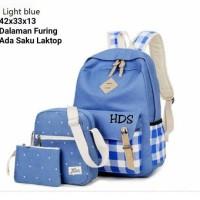 tas sekolah wanita ransel backpack 3 in 1 murah