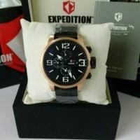 Jual jam tangan pria _ expedition 6386 black rosegold original Murah