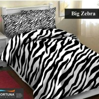 bed cover dan sprei motif zebra loreng hitam putih single uk 100x200
