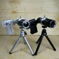 Jual Lensa Tele 12x Zoom Universal With Manual Focus + Mini Tripod Murah