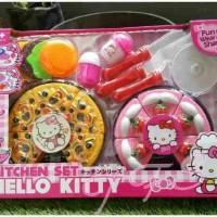 Mainan Masak Masakan, Pizza, Kue, Hamburger Hello Kitty