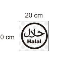 Stiker Logo Halal Makanan Minuman Restaurant Cafe Cutti