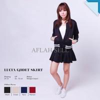 Jual QWK Lucia Godet Skirt Mini Rok Lipit Pleated (CSK109) Murah