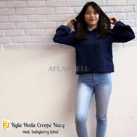 Jual ERQ Kylie Crop Hoodie Navy Murah