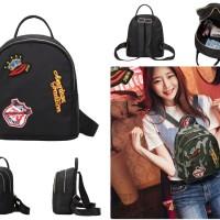 tas ransel import hitam simple keren fashion blogger unik murah wanita