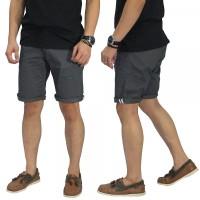 Celana Pendek Pria Chino With List Grey/ Celana Fashion Casual Premium