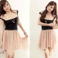 Jual HV9307 SALE  Dress Cappucino LT Dress wanita spandex KODE BIS9361 Murah