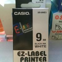 Jual Casio Ez-Label Printer 9mm White Tape Berkualitas Murah