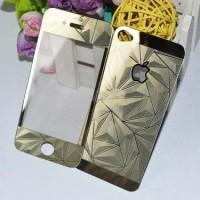 Jual PROMO Tempered Glass 3D Mirror Diamond Iphone 4/4s Depan Bela  Murah