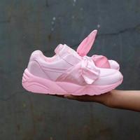 Jual MURAH Puma Rihanna Bow Pink / sepatu cewe / kado cewe / sepatu jalan j Murah