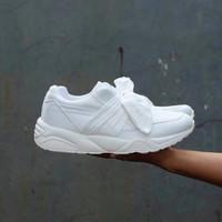 Jual DISKON Puma Rihanna Bow white / sepatu cewe / kado cewe / sepatu jalan Murah