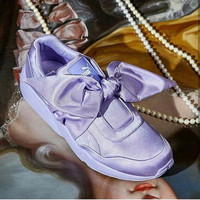 Jual PROMO Puma Rihanna Fenty Bow Ice Purple Premium Original Murah