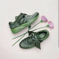 Jual SEPATU Puma Rihanna Fenty Bow Olive Green Premium Original Murah