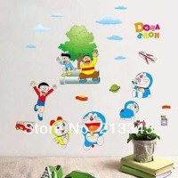 Jual wallsticker/wallpaper stiker trans AY860-DORAEMON N FRIENDS terbaru Murah