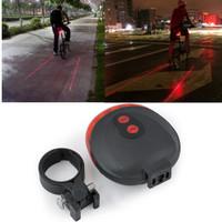 Jual Bicycle Laser Strobe Taillight 5 LED / Lampu LED Sepeda Spesial Murah