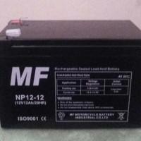 aki baterai kering vrla mf 12ah 12v sepeda listrik mainan ups gs yuasa