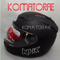 DISKON% Helm full face NHK GP1000 / GP 1000 double visor black dop