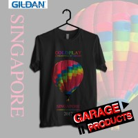 COLDPLAY Tour 2017 SINGAPORE Kaos Band Printed in Gildan Shirt