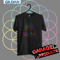 COLDPLAY AFOD Tour 2017 SINGAPORE Kaos Band Printed in Gildan Shirt