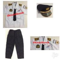 Baju Masinis Anak / Baju Profesi Masinis Junior Size 5 dan 6